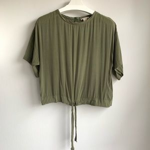 H&M army green super soft blouse EUC